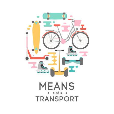 Medios de transporte vector ilustración de fondo con área de texto Ilustración de vector