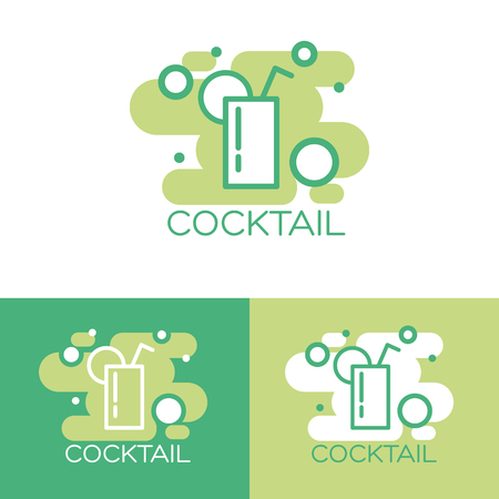 Cocktail concept design. vector illustration 向量圖像