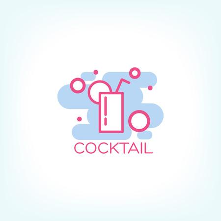 ice tea: Cocktail concept design. vector illustration Illustration