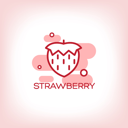 text area: Vector Strawberry flat Icon with text area