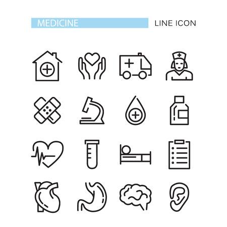 Medische Pictogrammen Set. Vector pictogrammen geïsoleerd op de witte achtergrond
