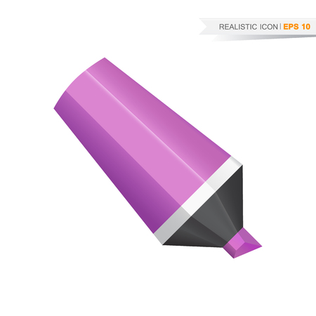Vector realistic marker icon isolated on the white background