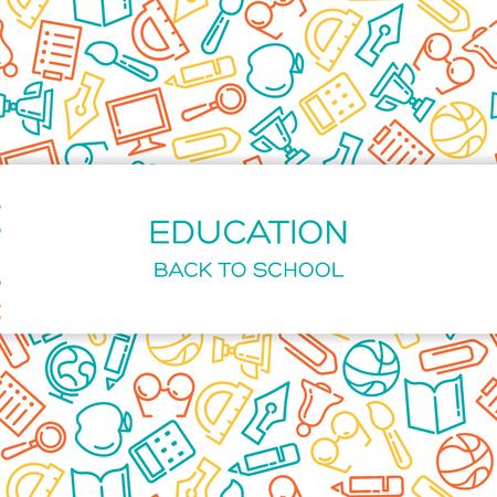 Education Vecteur de fond avec des icônes alignés Vecteurs