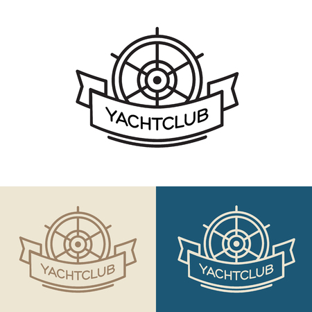 Yacht club design. Vector Illustration isolated on white background.