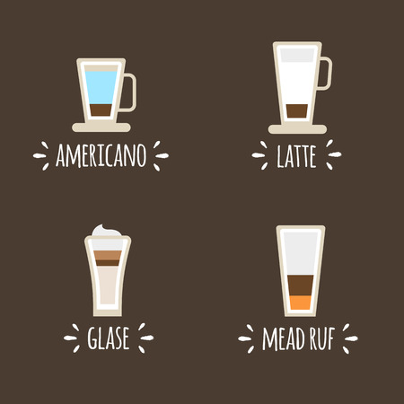 Cups of coffee icons . vector icons Ilustração