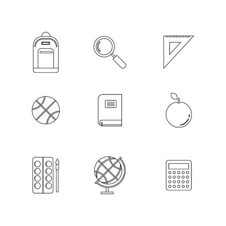 School and Education Flat Icons set