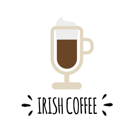 Vector Background With Cup of Coffee icons