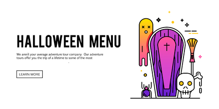 ghostly: Happy halloween. Vector illustration on the white background