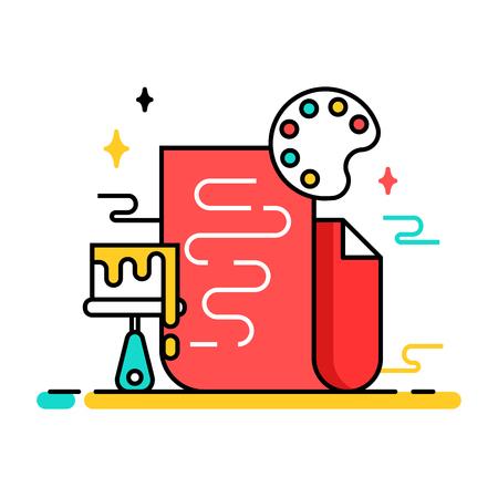 creative tools: Art tools and materials creative illustration