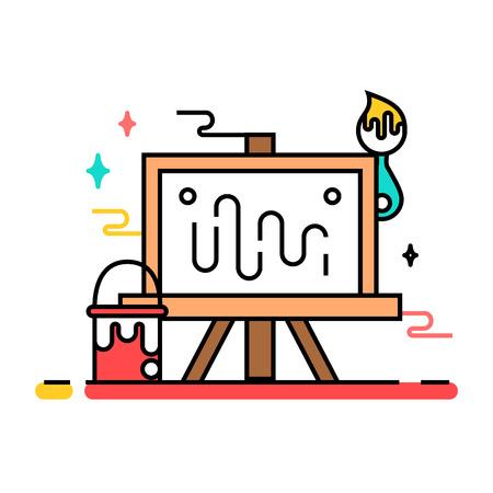 Art tools and materials creative illustration
