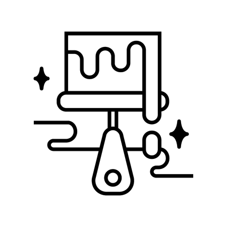 Art tools and materials creative lined icon