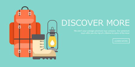 Trip design elementen, reizen iconen illustratie