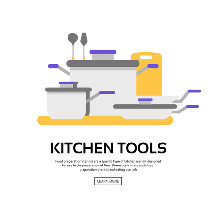 illustration collection: Kitchen tools collection, vector illustration with icons