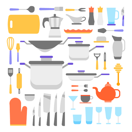 Kitchen tools collection, vector icon set