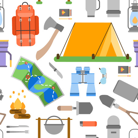 holiday vacation: World Travel. Planning summer vacations. Summer holiday. Tourism and vacation theme. Flat design vector illustration. Seamless pattern.
