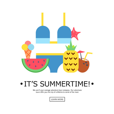 World Travel. Planning summer vacations. Summer holiday. Tourism and vacation theme. Flat design vector illustration. Material design.