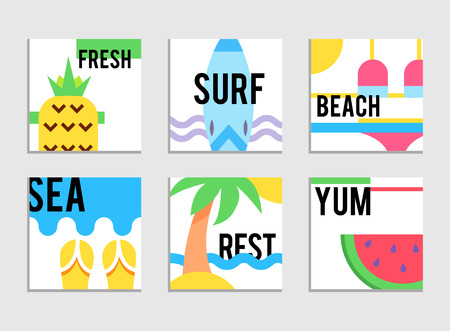 World Travel. Planning summer vacations. Summer holiday. Tourism and vacation theme. Flat design vector illustration.