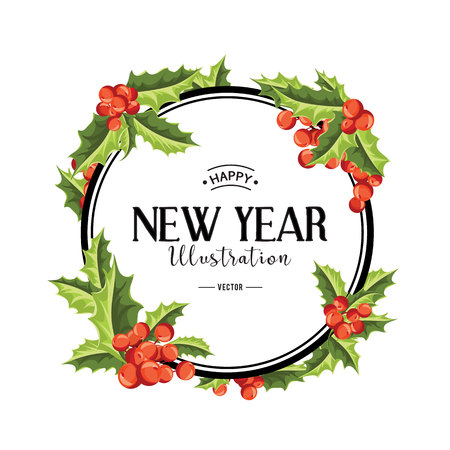 happy new year banner: Merry Christmas background. Vector art. Perfect decoration element for cards, invitations and other types of holiday design. Illustration