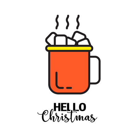 vector creative merry christmas greeting card 版權商用圖片 - 66789597