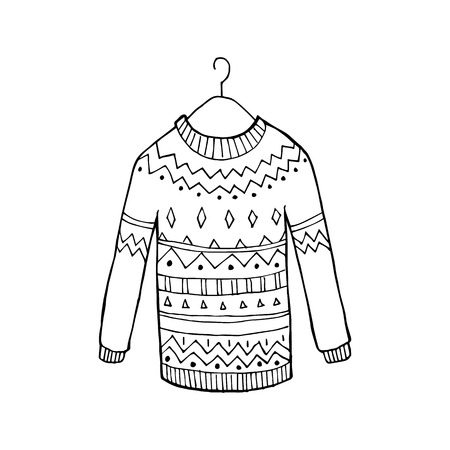 Christmas ugly vector sweater Illustration