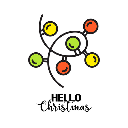 vector creative merry christmas greeting card Illustration