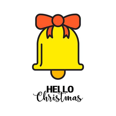 vector creative merry christmas greeting card Çizim
