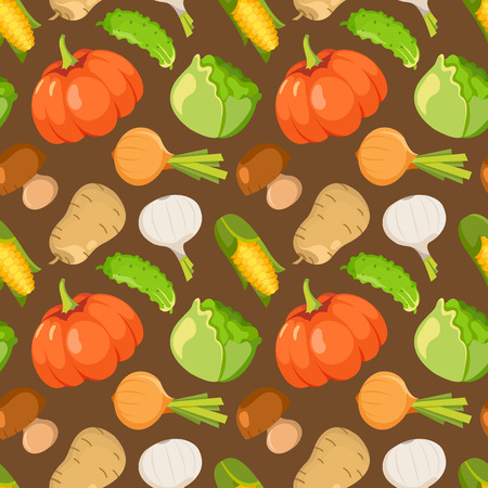 healty lifestyle: Healty food cartoon representing some funny vegetables. seamless pattern