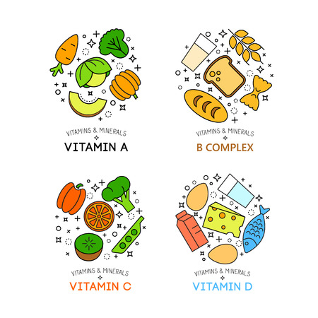 healty lifestyle: Healty food background representing. vegetables and fruits icons Illustration