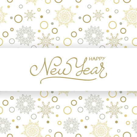 Merry Christmas and Happy New Year background with snowflakes. Vector design concept Stock Illustratie