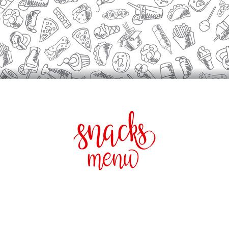 Menu Restauration rapide. Set d'icônes sur l'arrière-plan de vecteur. frites, hamburgers, frites de patates douces, icecream hot-dog Banque d'images - 67818499