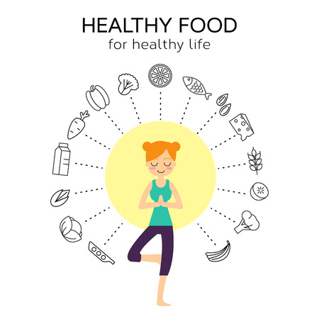 healty living: Healty food background representing