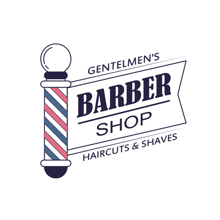 barbershop: Composition of the set of icons for the Barber shop.