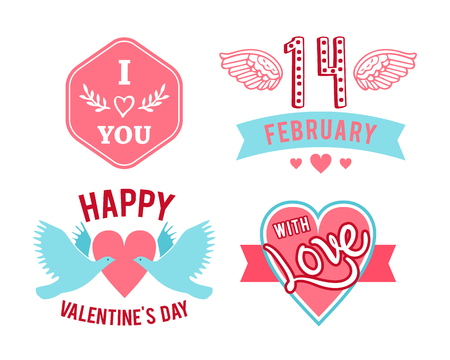 forties: hand-lettered vintage st. valentines card