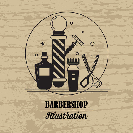 barbershop: Composition of the set icons for the Barber shop. Vector elements your web design