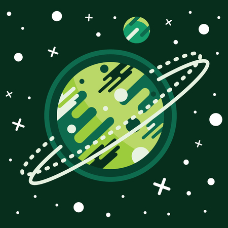 Vintage space and astronaut background. Colored vector illustration.