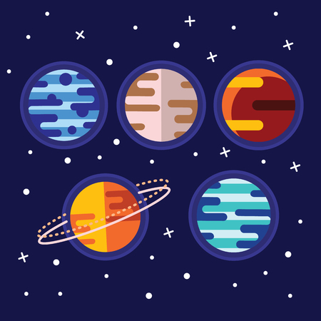 Vintage space and astronaut background Ilustração