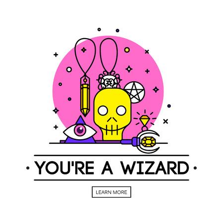 Magic illustration.