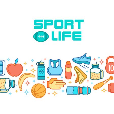 rulos: Iconos de deportes. Concepto de deporte, de fondo.