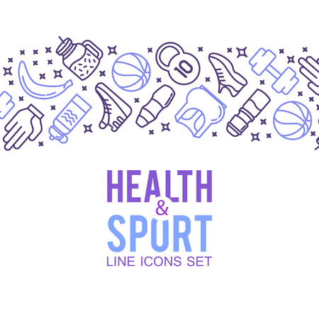 Sports icons. Sport concept, background. Stock Vector - 71207283