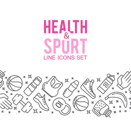 Sports icons. Sport concept, background. Illustration