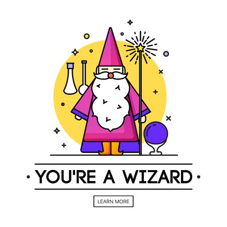 Magische illustratie.