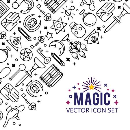 Vector illustratie van magische iconen.