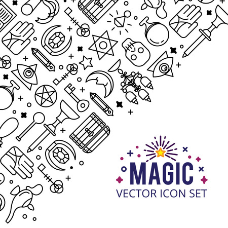 Vector illustration of magic icons.