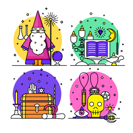 esp: Magic illustration. sparkle magic lights. mystery miracle Illustration