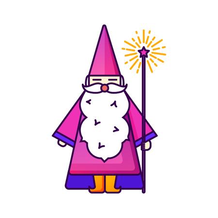 Magic illustration with sparkle magic lights. Ilustração