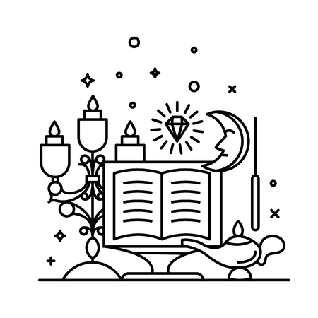 Magic illustration. sparkle magic lights. mystery miracle Illustration