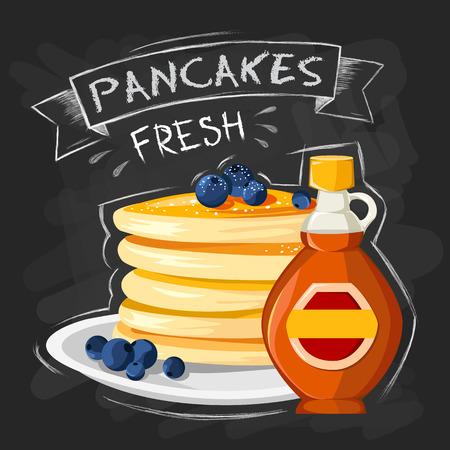 Premium quality restaurant breakfasts vintage style advertisement illustration Ilustração