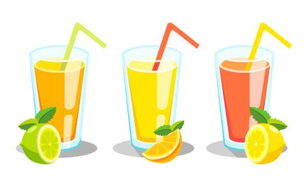 Lemon and lime lemonade vector background. Illustration