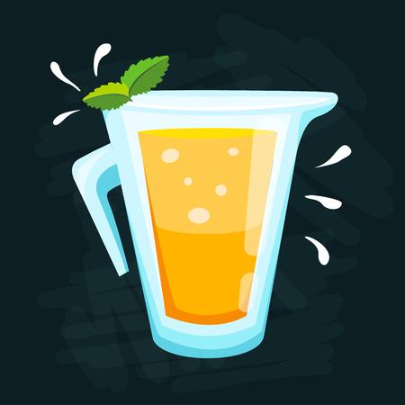 Lemon and lime lemonade vector background. Stock Illustratie