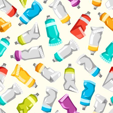 Ensemble de tubes de peinture vecteur coloré Banque d'images - 74494758